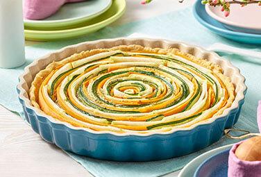 Gemüsequiche mit Möhren, Kohlrabi und Zucchini