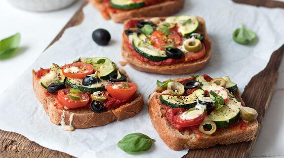 Glutenfreie Brot-Pizza