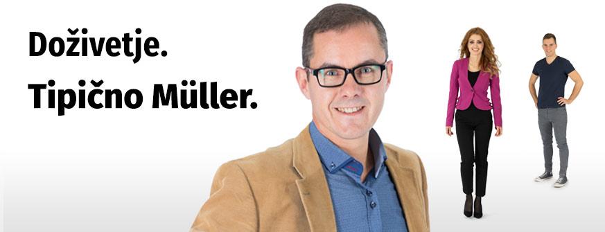 Zaposlitev v Müllerju. Doživetje. Tipično Müller.