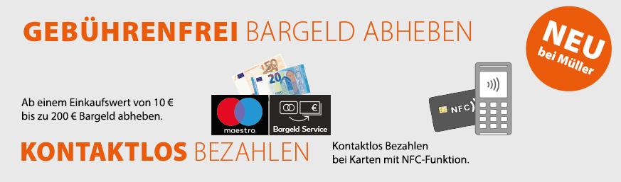 Neu: Bargeld Abheben
