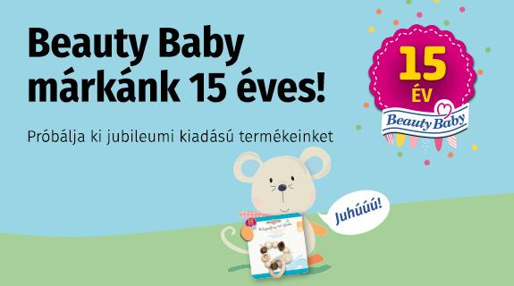 15 éves a Beauty Baby márkánk!