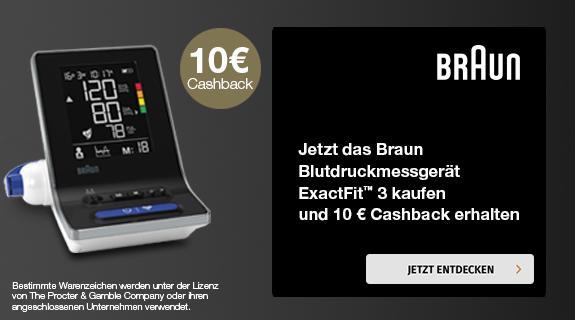 10€ Cashback beim Kauf eines Blutdruckmessgeräts