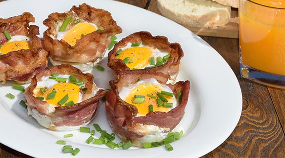 Muffini od jaja i slanine