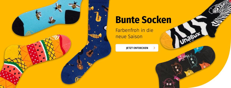 Bunte Socken bei Müller