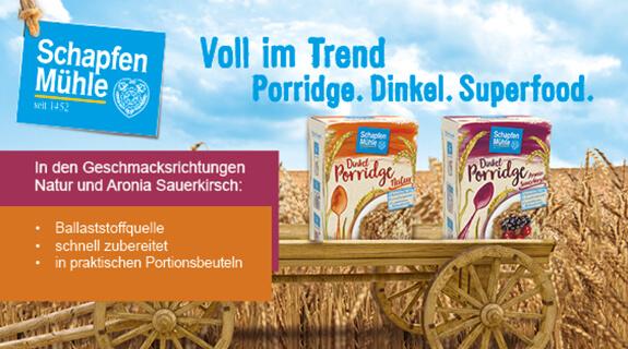 Dinkel Porridge von Schapfenmühle