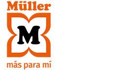 Logotipo estándar con eslogan - MÜLLER. Más para mí,