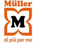 Logo standard con il claim: MÜLLER – di più per me