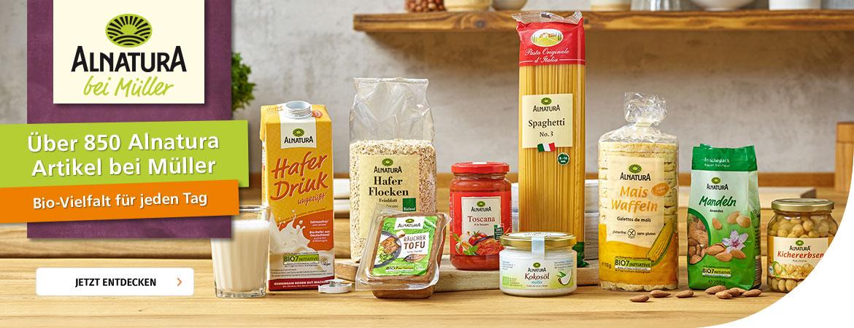 Über 850 Alnatura Produkte bei Müller