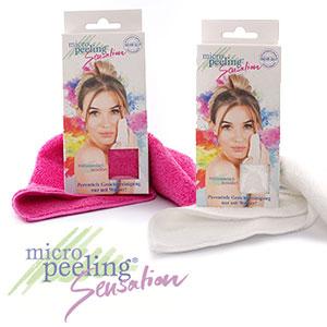 Micro Peeling Sensation Tuch in pink oder weiß