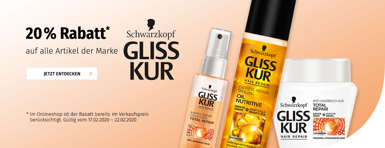 20% auf GLISS KUR bei Mueller.de
