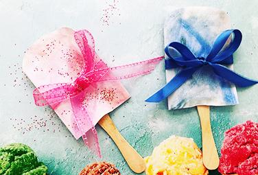 fertige Einladung in blau und rosa