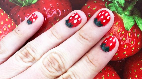 Erdbeer Nägel Schritt 4