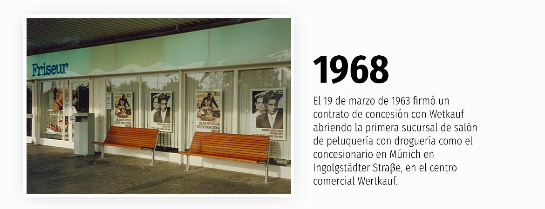 1968 - Primera sucursal con droguería
