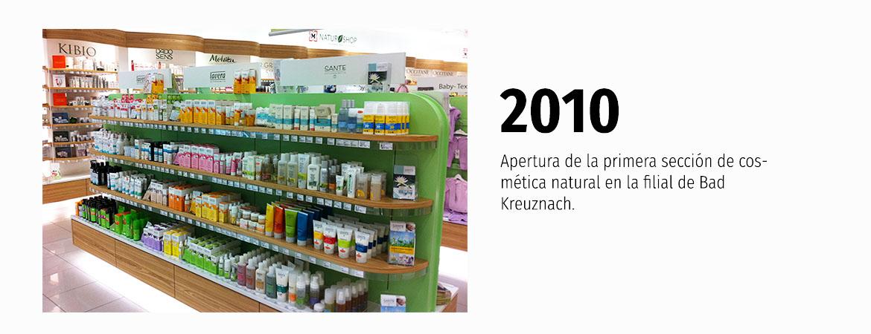 Apertura de la primera sección de cosmética natural