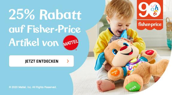 25% auf fisher price Artikel von Mattel