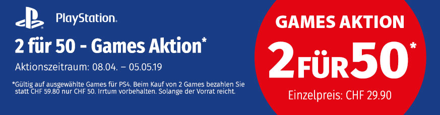 Games-Aktion 2 für 50