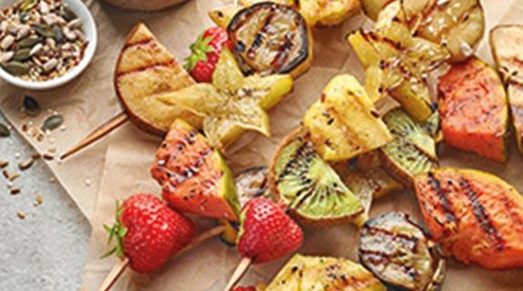 Fruchtige Grillspieße