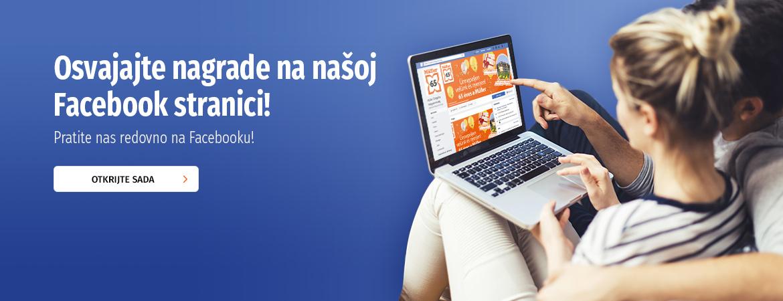 Osvajajte nagrade na našoj Facebook stranici!