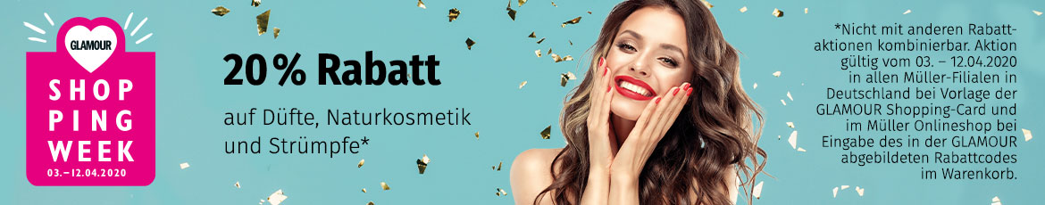 Glamour Shopping Week 20% auf Naturkosmetik