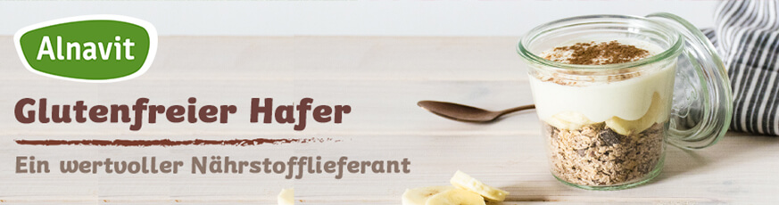 Glutenfreier Hafer von Alnavit