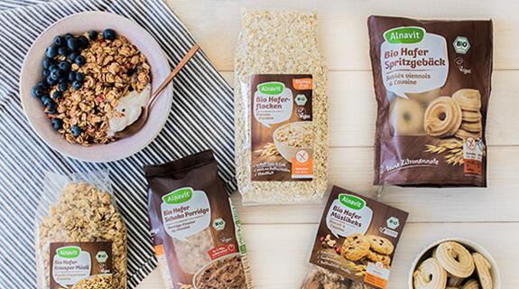 Produkte aus glutenfreiem Hafer