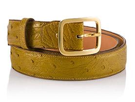 Leder-Gürtel Damen gold matt