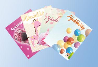 Ajándékkártyák