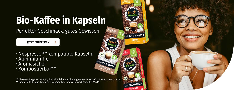 Bio-Kaffee in Kapseln