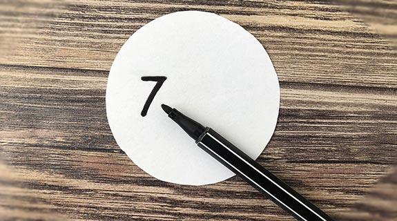Kreise mit Nummern beschriften