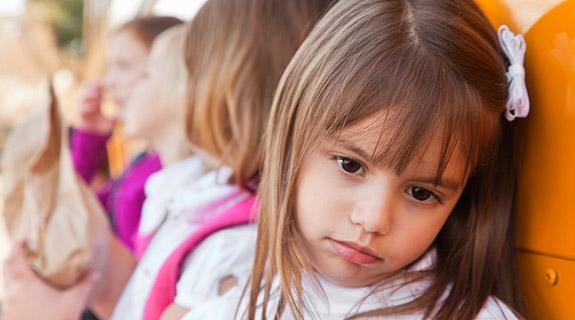 Introvertiertes Kind