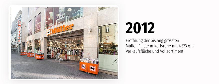 Größte Müller-Filiale in Karlsruhe mit 4'373 qm Verkaufsfläche