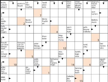Kreuzworträtsel Gewinnspiel