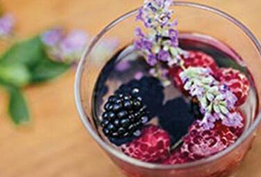 Rezept Lavendel Beeren Shrub