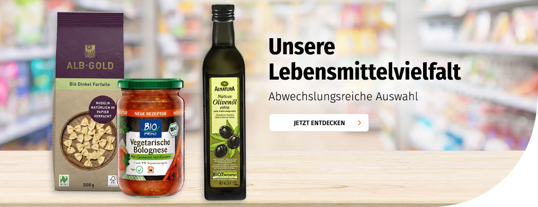 Lebensmittelvielfalt bei Müller