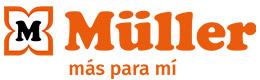 Logotipo (horizontal) con eslogan: MÜLLER – más para mí