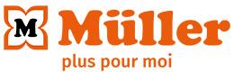 Logo (transveral) avec slogan : MÜLLER – plus pour moi