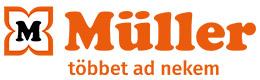 Vízszintes logó szlogennel: MÜLLER - többet ad nekem