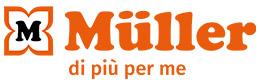 Logo (trasversale) con slogan: MÜLLER - di più per me