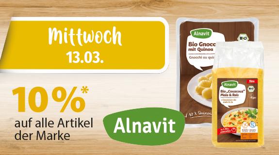 10% auf alle Artikel von Alnavit