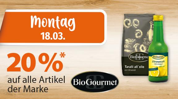 20% auf Bio Gourmet Artikel
