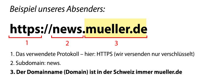 Beispiel Domain unserer Newsletter