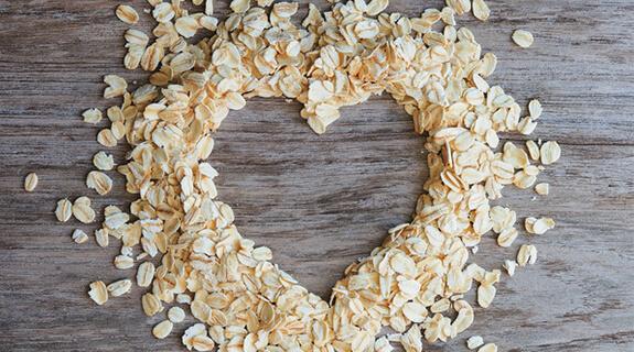 Herz aus Getreideflocken