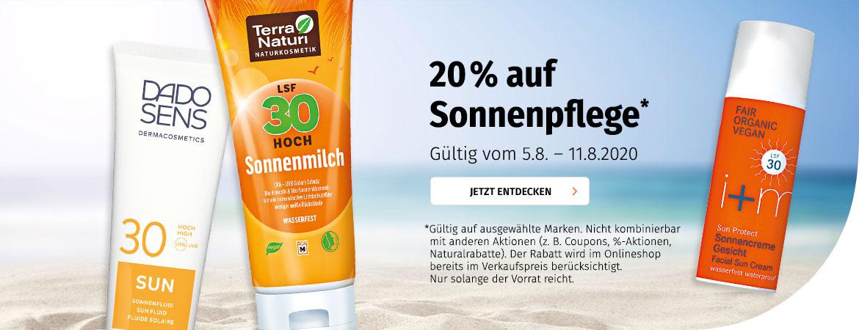 20% auf Sonnenpflege
