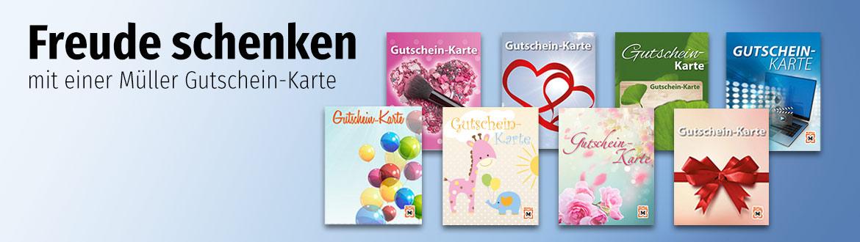 Freude schenken mit einer Müller Gutschein-Karte