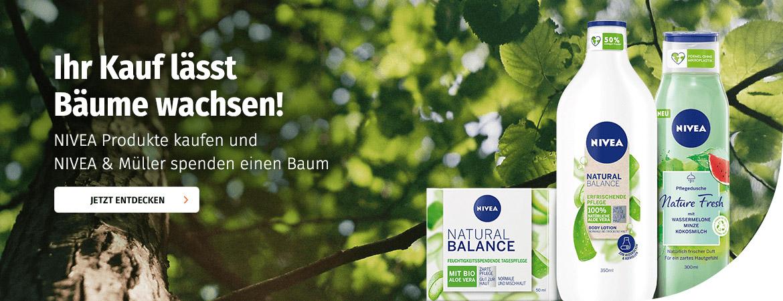 Mit NIVEA und Müller Bäume pflanzen