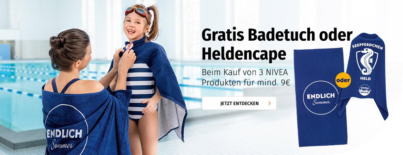 NIVEA - Gratis Badetuch oder Heldencape