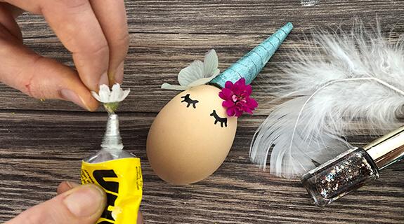 Einhorn-Eier - Blumen-Deko