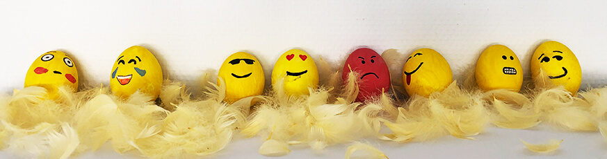Eier färben - Emojis