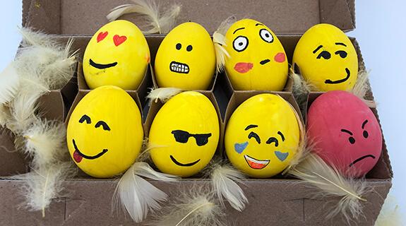 Emoji-Eier - fertige Ostereier