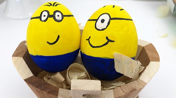Eier färben - Minions